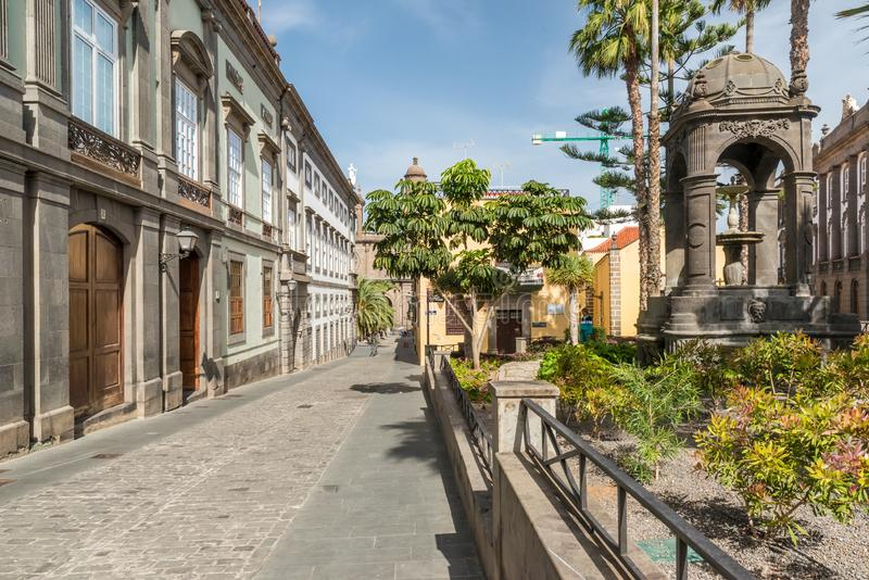 Las Palmas de Gran Canaria citiy hist?rico e bonito fotografia de stock royalty free