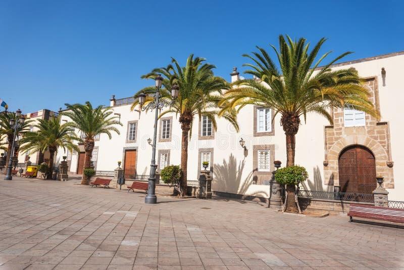 Las Palmas de Gran Canaria, España Paisaje urbano, casas coloniales en Vegueta imagen de archivo