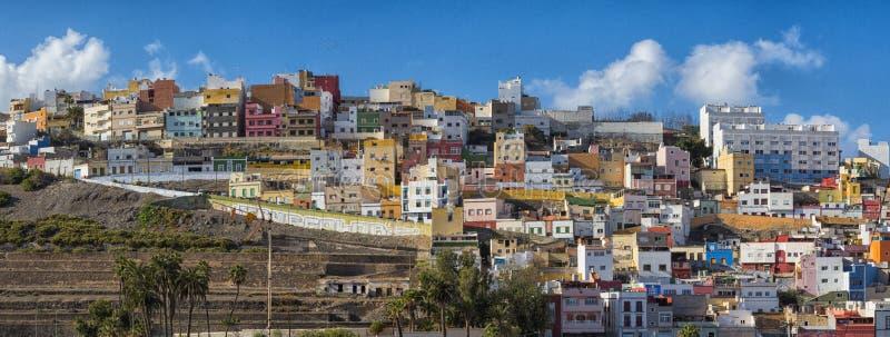Las Palmas de Gran Canaria -Rijtjeshuizen royalty-vrije stock afbeeldingen