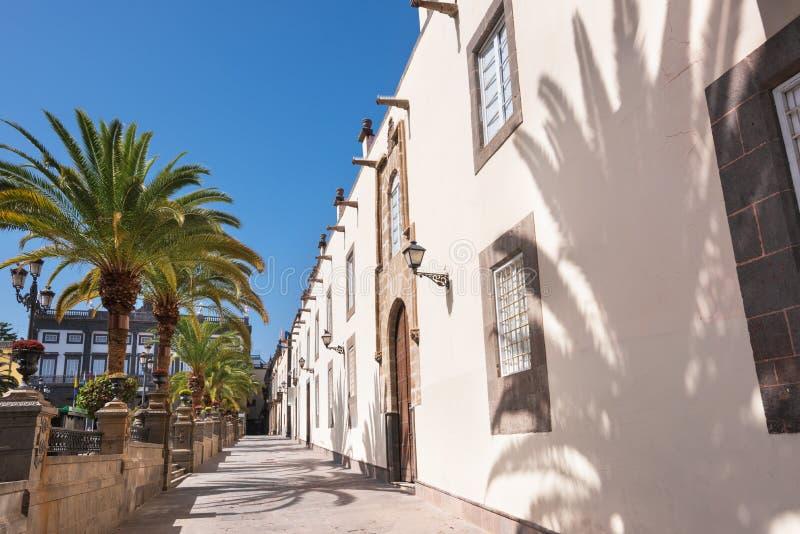 Las Palmas de Gran Canaria, Spain. Urban landscape, colonial houses in Vegueta. Las Palmas de Gran Canaria, Spain. Urban landscape, colonial houses in Vegueta royalty free stock image