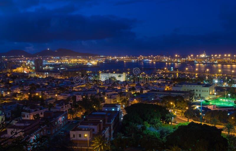 Las Palmas de Gran Canaria, vista aérea imagem de stock