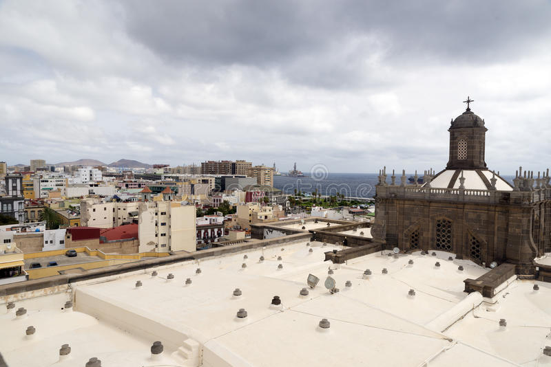 Las Palmas. Dome of Santa Ana Cathedral in Las Palmas de Gran Canaria, Spain royalty free stock photos