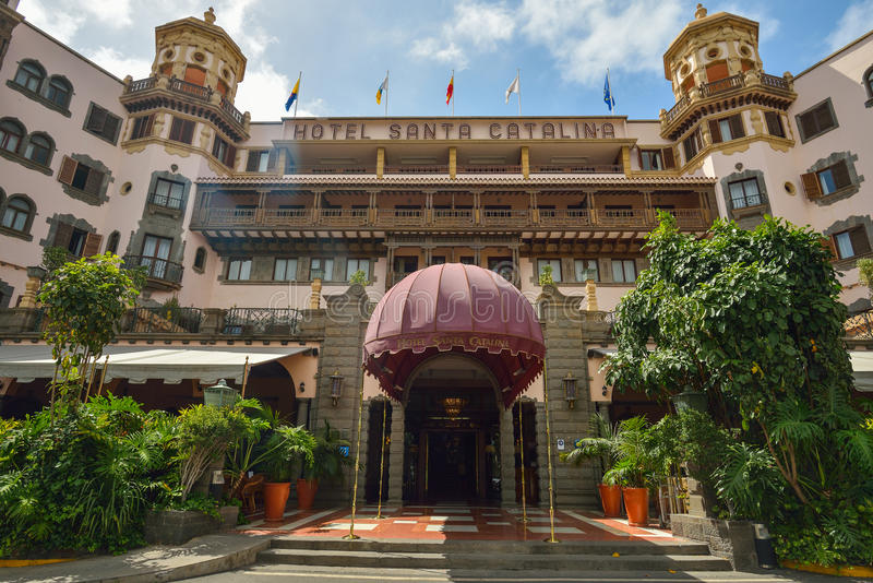 LAS PALMAS, GRAN CANARIA, SPAGNA - 10 MARZO 2017: L'hotel Santa Catalina è il più vecchio hotel della città del Las Palmas e del  immagine stock