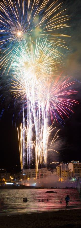 LAS PALMAS - 23 juin : Célébration de minuit de Noche De San Juan, images libres de droits