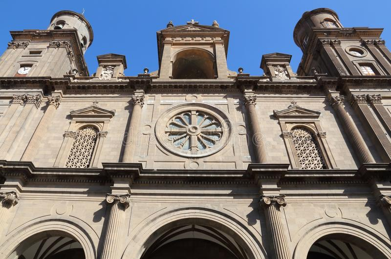 Las Palmas. Cathedral - architecture of Gran Canaria stock photos