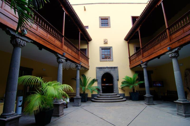 Las Palmas, mamie Canaria, maison de colon photo stock