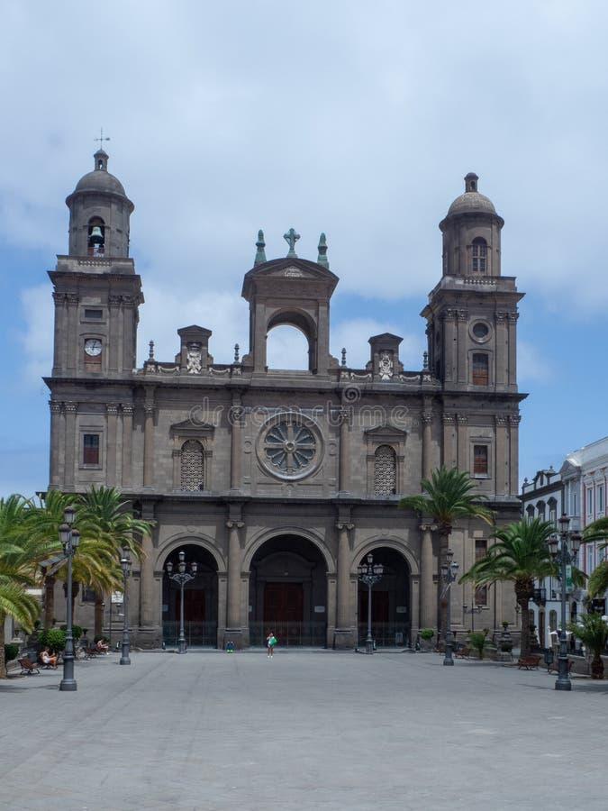 Catedral de las Palmas, Gran Canaria. Las Palmas/Spain - August 15 2019: Las Palmas is a city and capital of Gran Canaria island, in the Canary Islands, on the royalty free stock photo