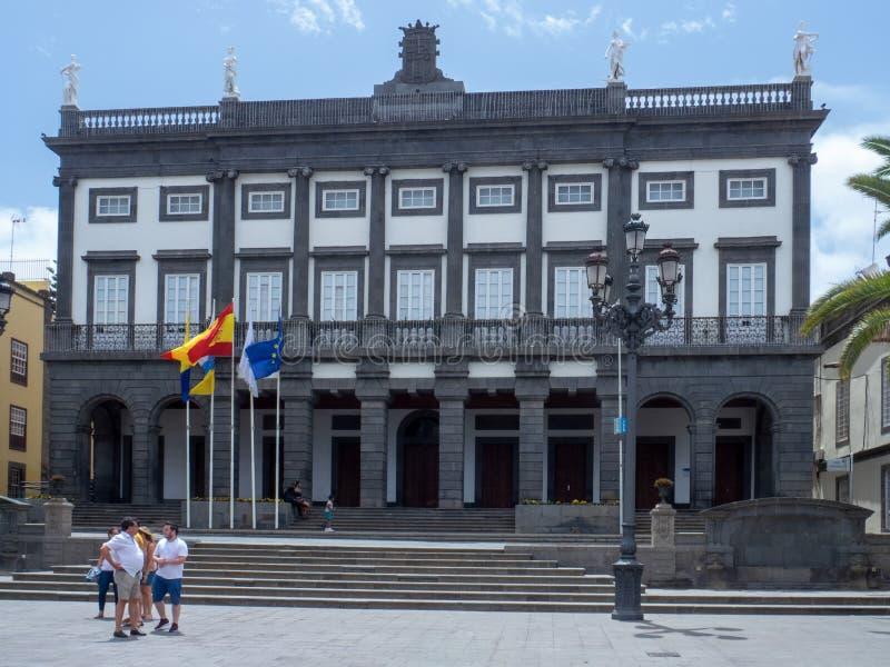 Las Palmas City Hall, Gran Canaria. Las Palmas/Spain - August 15 2019: Las Palmas is a city and capital of Gran Canaria island, in the Canary Islands, on the royalty free stock photos