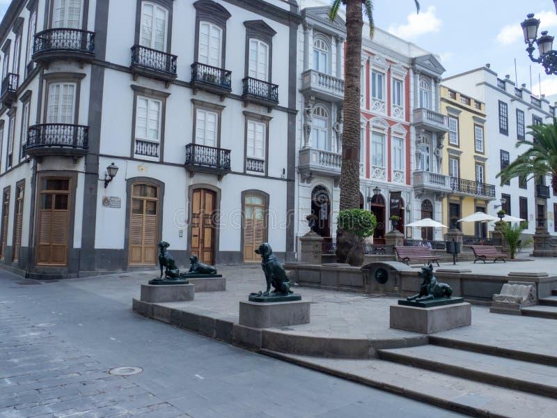 Plaza de Santa Ana, Las Palmas, Gran Canaria. Las Palmas/Spain - August 15 2019: Las Palmas is a city and capital of Gran Canaria island, in the Canary Islands royalty free stock image