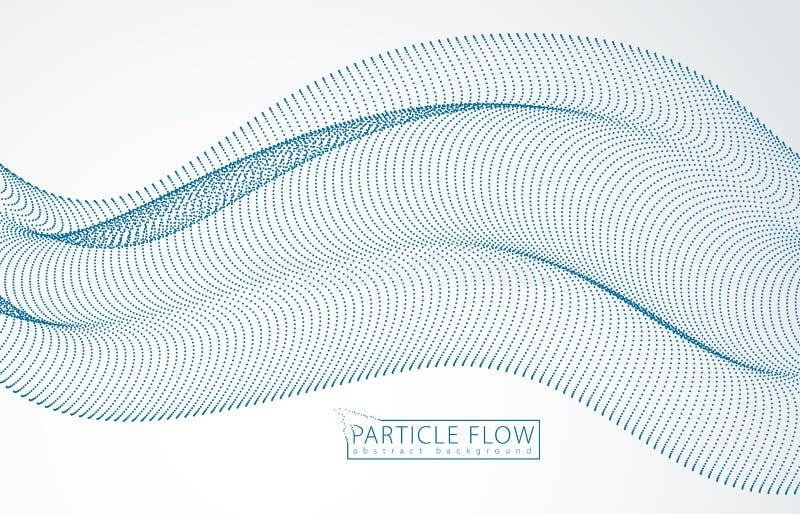 las partículas 3d enredan la onda del arsenal, sonido Empa?ado alrededor del ejemplo del efecto del vector de los puntos estilo f ilustración del vector