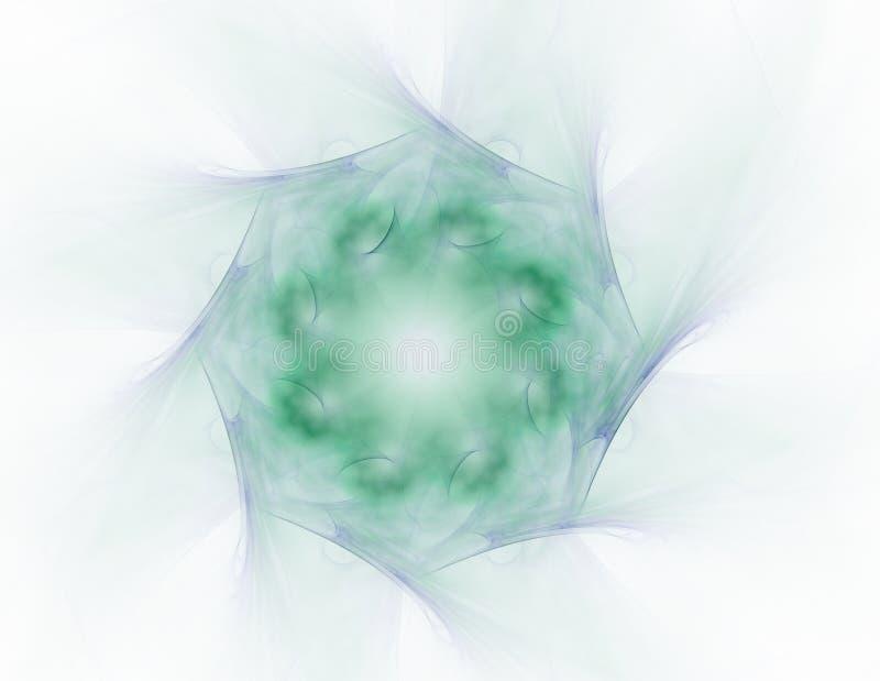 Las partículas del fractal abstracto forman a propósito de ciencia de la física nuclear y de diseño gráfico Cantidad futurista sa ilustración del vector
