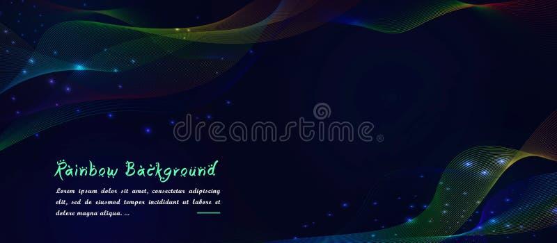 Las partículas digitales del arco iris del color del color abstracto del holograma agitan el fondo libre illustration