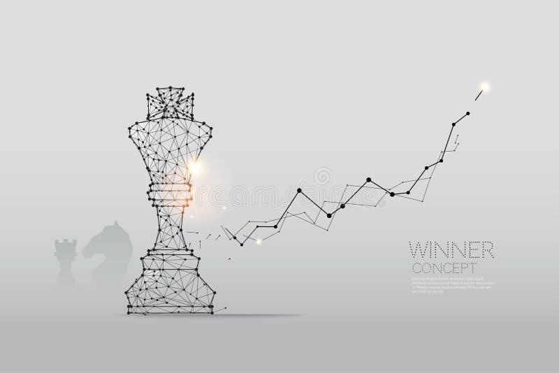 Las partículas, el arte geométrico, la línea y el punto del ajedrez ilustración del vector