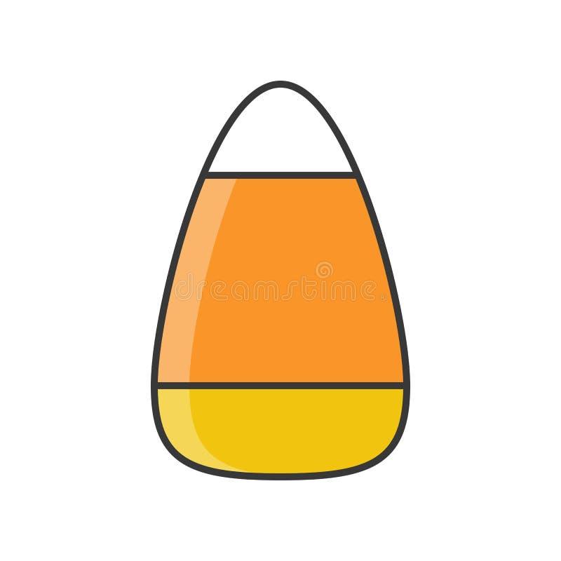 Las pastillas de caramelo, dulces de Halloween y caramelo, llenaron el icono del esquema corrigen ilustración del vector