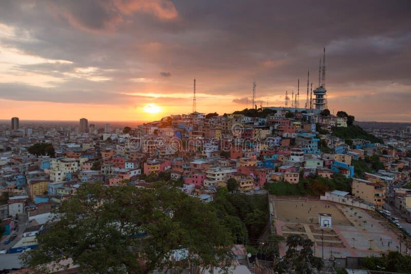 Las Peñas - la région la plus ancienne de Guayaquil, Equateur photo libre de droits