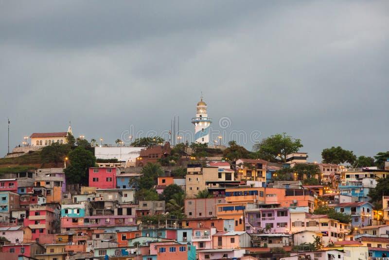 Las Peñas - the oldest area of Guayaquil, Ecuador royalty free stock photo