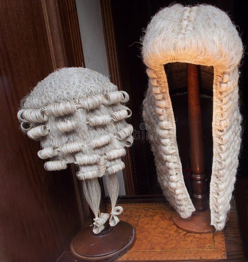 Las pelucas del abogado imagen de archivo libre de regalías