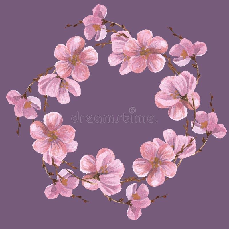 Las peon?as de la acuarela modelan el estampado de flores incons?til Dibujo de la acuarela en el fondo blanco stock de ilustración