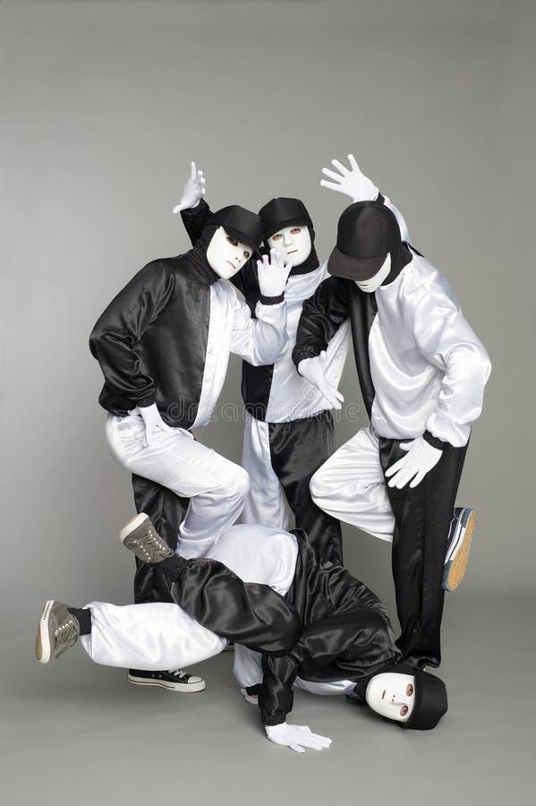 Las personas del retrato de jóvenes rompen a bailarines foto de archivo libre de regalías