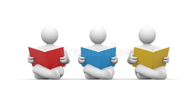 Las personas leyeron el libro ilustración del vector
