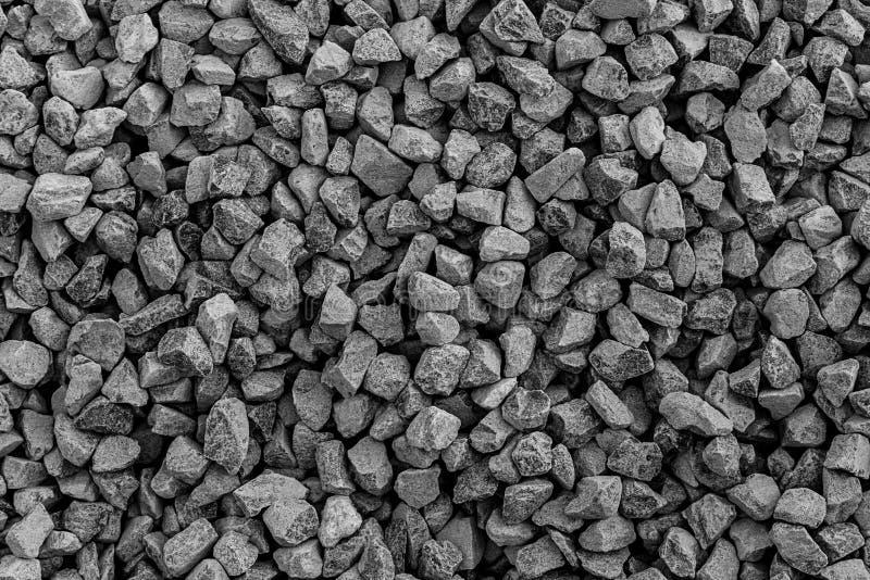 Las piedras texturizan y fondo Oscile la textura Fondo machacado de la grava imagen de archivo