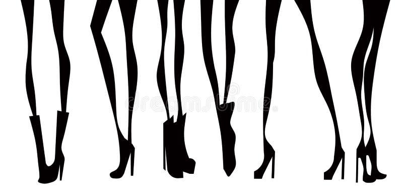 Las piernas de las mujeres stock de ilustración