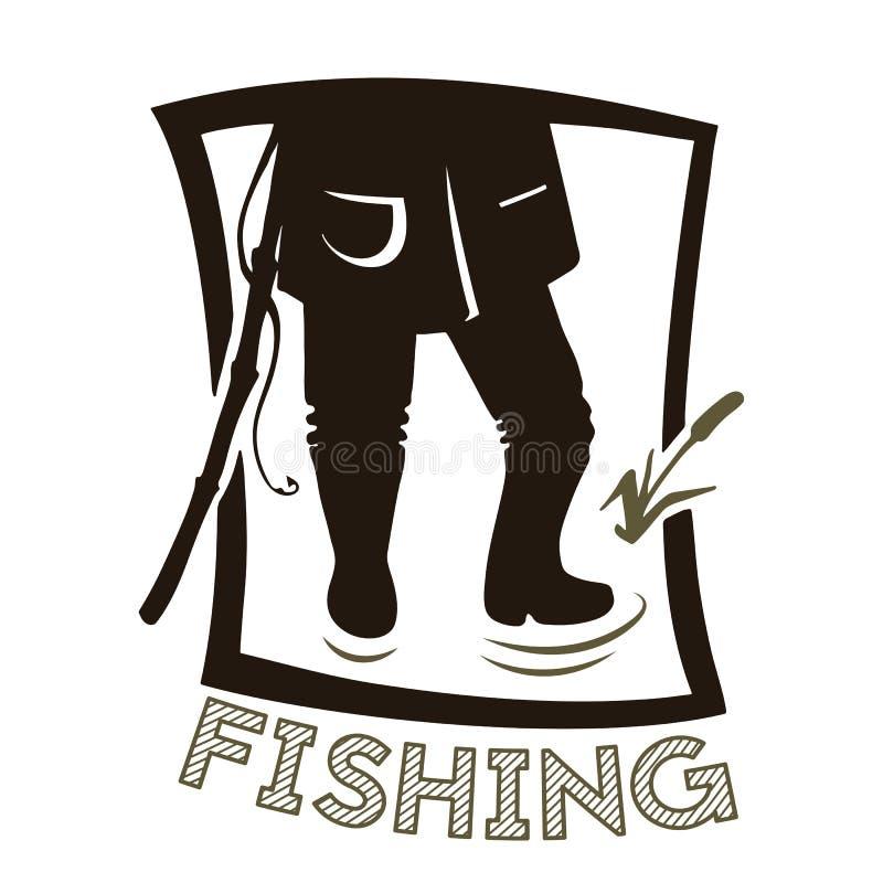 Las piernas del pescador libre illustration