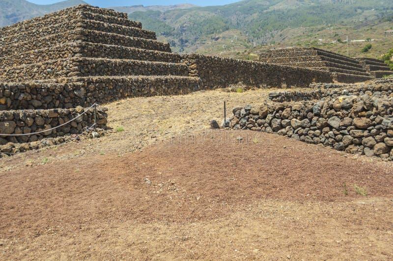 Las pirámides del ¼ Ãmar Tenerife, islas Canarias, España de GÃ imagen de archivo libre de regalías