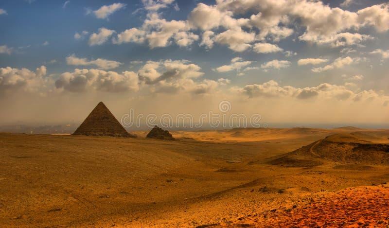 Las pirámides egipcias fotografía de archivo libre de regalías