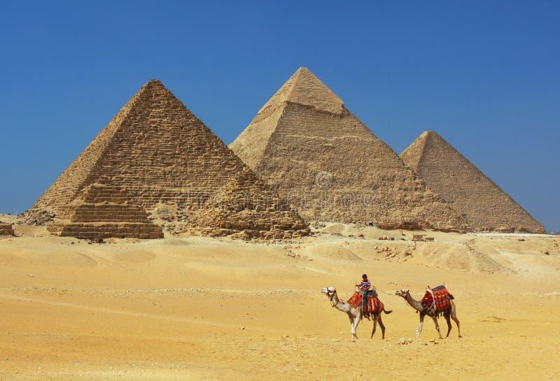 Las pirámides en Egipto fotos de archivo libres de regalías