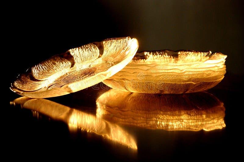 Las placas de cristal grabadas fotografía de archivo libre de regalías