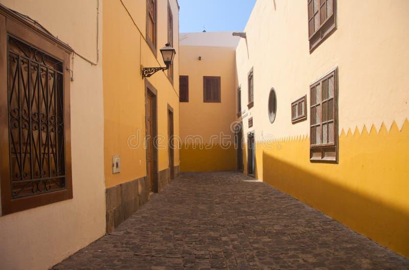 Las Plamas de Gran Canaria, cidade velha fotografia de stock