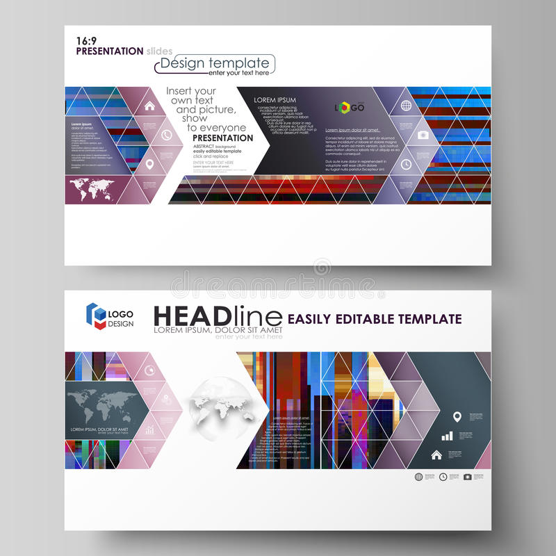 Las plantillas del negocio en el formato de HD para la presentación resbalan Disposiciones abstractas en diseño del vector Fondo  ilustración del vector