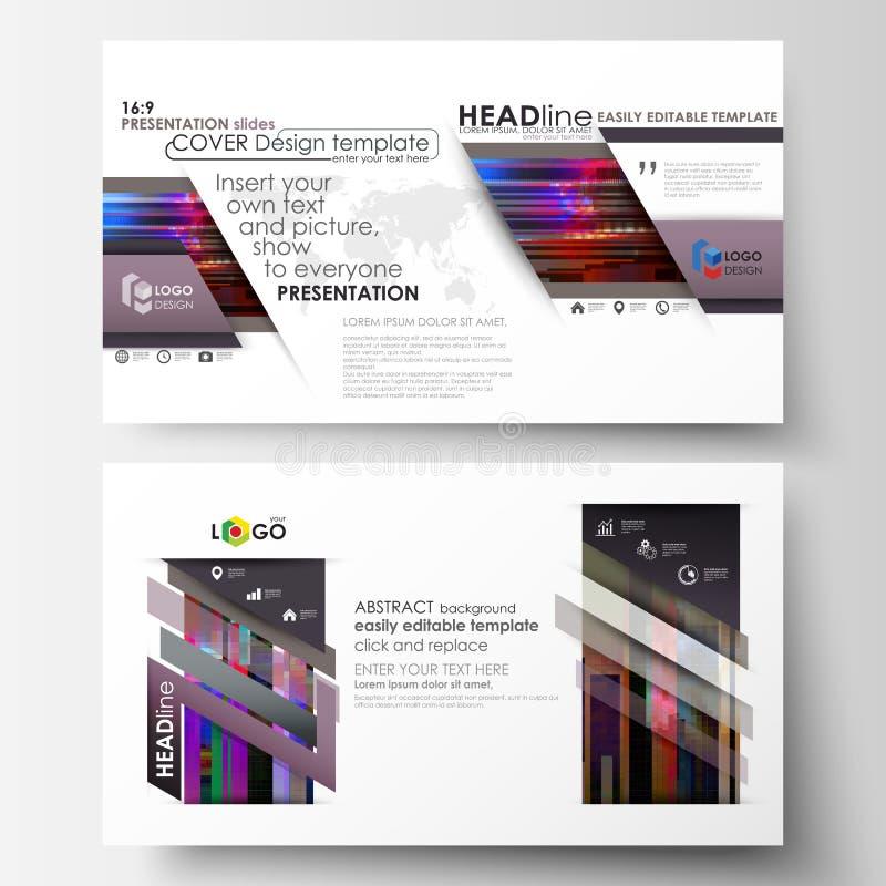 Las plantillas del negocio en el formato de HD para la presentación resbalan Disposiciones abstractas en diseño del vector Fondo  stock de ilustración
