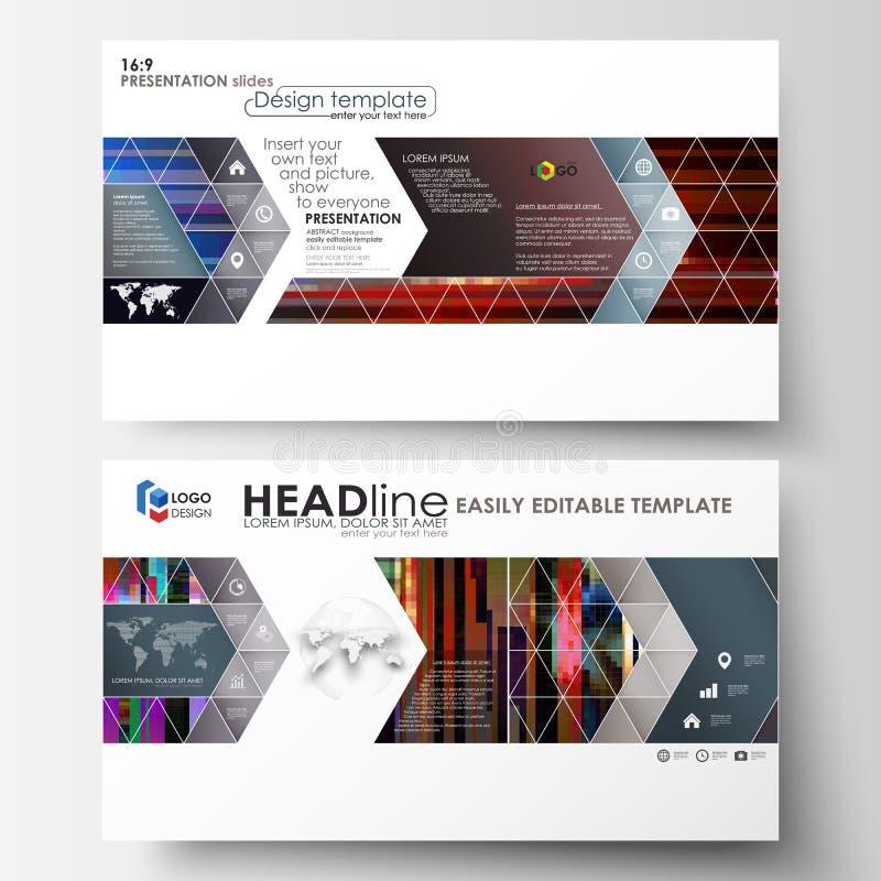 Las plantillas del negocio en el formato de HD para la presentación resbalan Disposiciones abstractas en diseño del vector Fondo  libre illustration