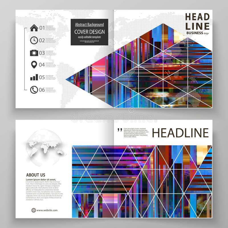 Las plantillas del negocio para el BI cuadrado del diseño doblan el folleto, revista, aviador Cubierta del prospecto, disposición stock de ilustración