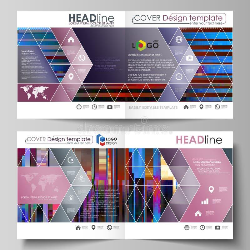 Las plantillas del negocio para el BI cuadrado del diseño doblan el folleto, revista, aviador Cubierta del prospecto, disposición libre illustration