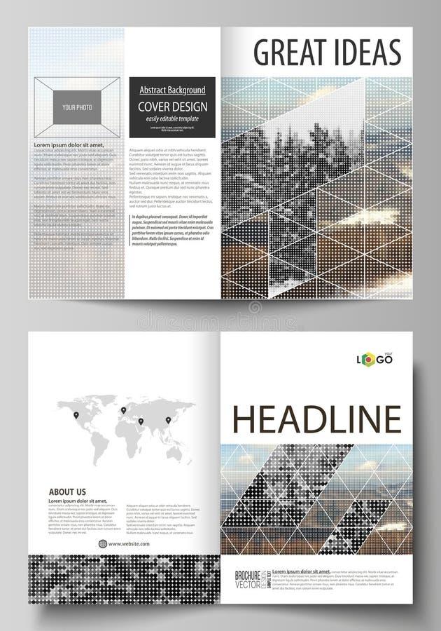 Las plantillas del negocio para el BI doblan el folleto, aviador, folleto, informe Cubra la plantilla del diseño, disposición del ilustración del vector