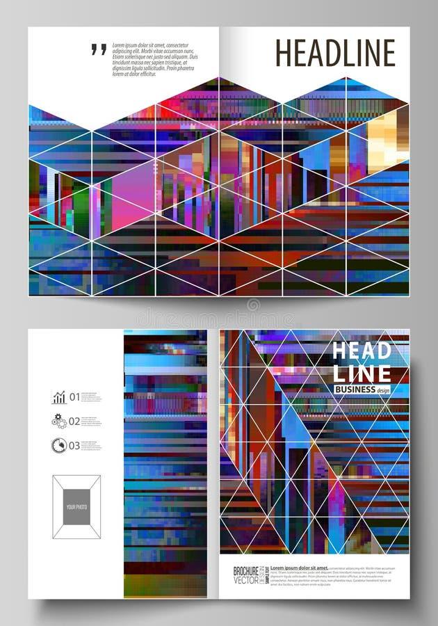 Las plantillas del negocio para el BI doblan el folleto, revista, aviador, folleto, informe Plantilla del diseño de la cubierta,  libre illustration