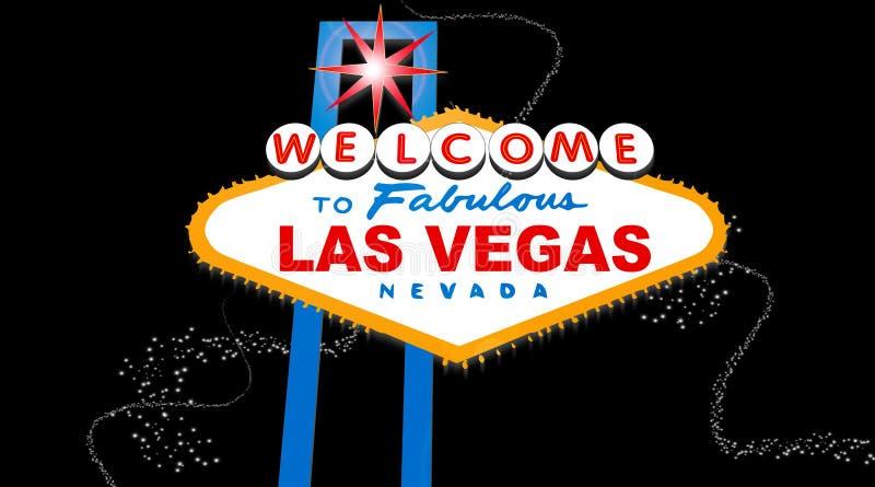 las podpisują Vegas royalty ilustracja