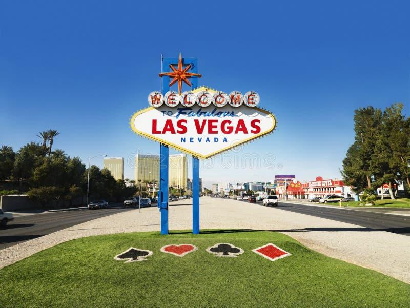 las podpisują Vegas powitanie obraz stock