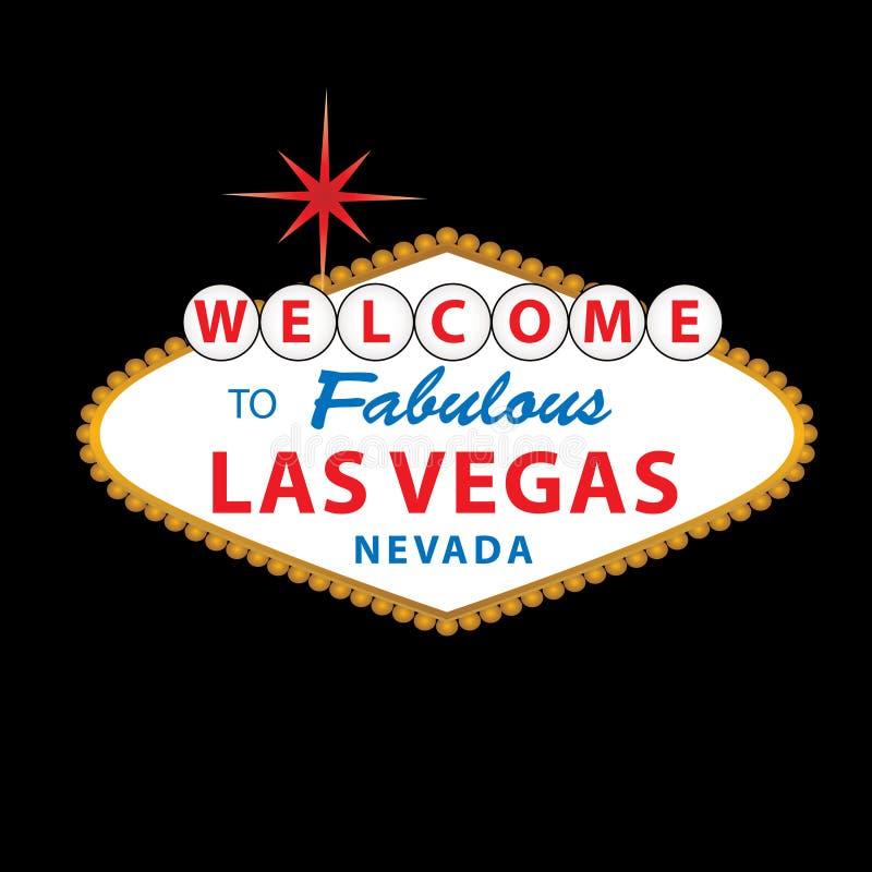 las podpisują Vegas powitanie ilustracji