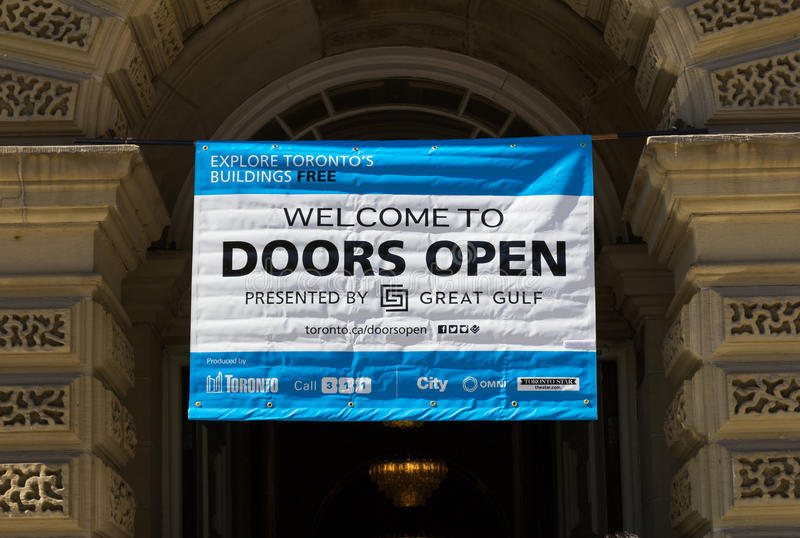 Las puertas abren la muestra de Toronto foto de archivo libre de regalías