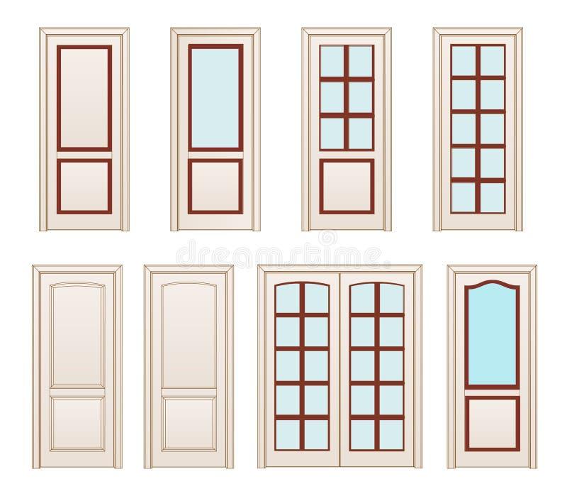 Las puertas blancas de la oficina de la colecci n fijaron - Contorno porte interne ...