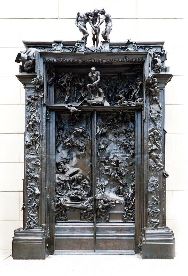 Las puertas de Rodin del infierno imagen de archivo libre de regalías