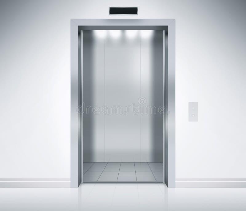 Las puertas del elevador se abren fotos de archivo