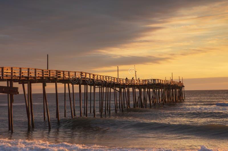 Las quejas dirigen a Carolina Fishing Pier Morning del norte fotos de archivo libres de regalías
