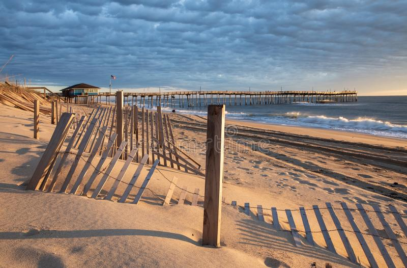 Las quejas dirigen Carolina Fishing Pier y la costa del norte foto de archivo