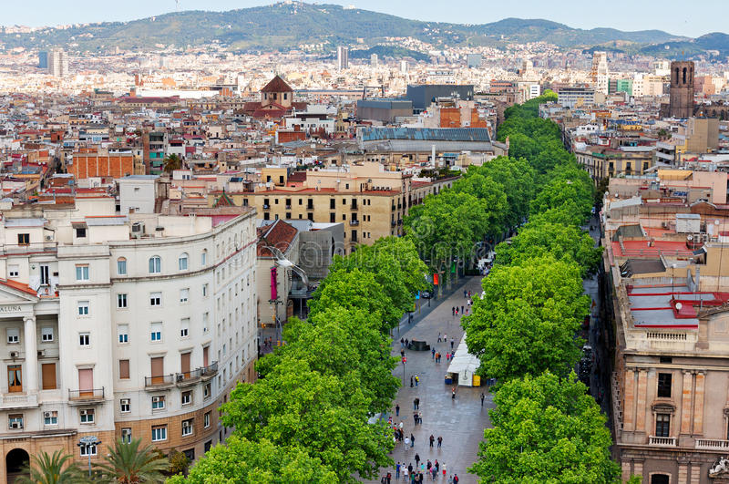 Las Ramblas of Barcelona stock photos
