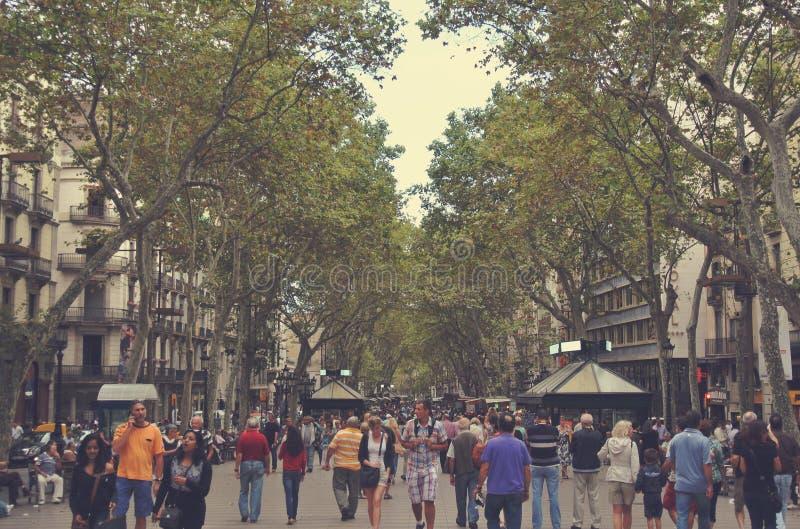 Las Ramblas, Barcelona, España imágenes de archivo libres de regalías